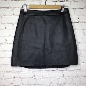 Express Fake Leather Mini Skirt